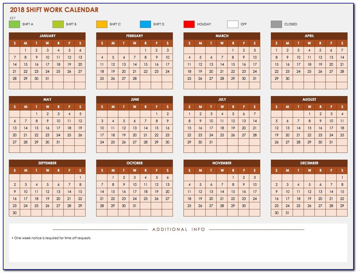 10 Hour Shift Work Schedule Template