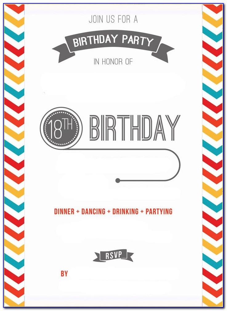 18 Birthday Invitation Format