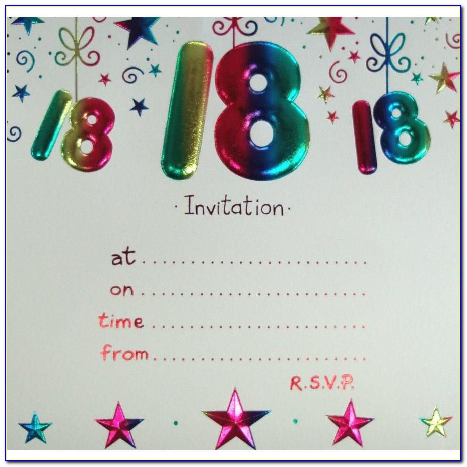 18th Birthday Invitations Templates Free