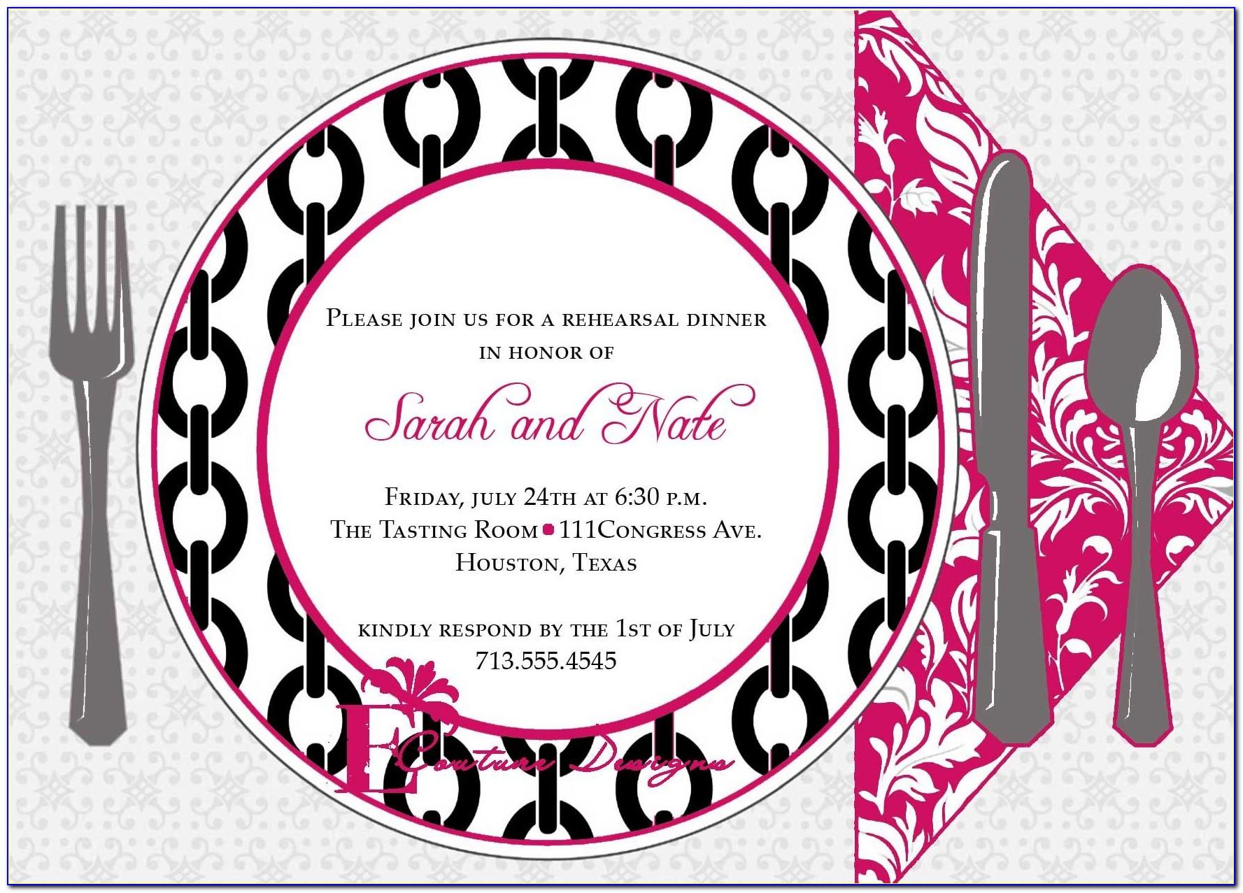 25th Birthday Dinner Invitation Wording