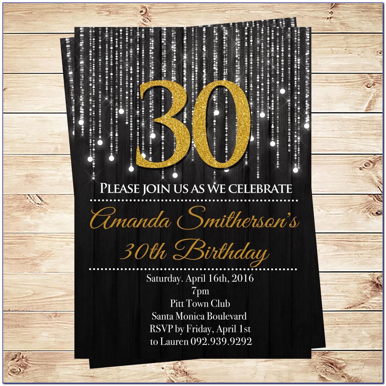 30th Birthday Invitation Samples