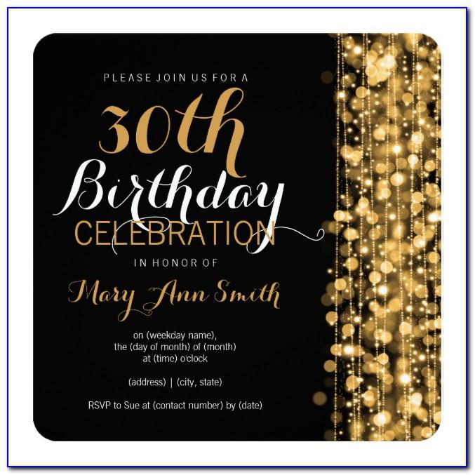 30th Birthday Invitation Templates Free Download