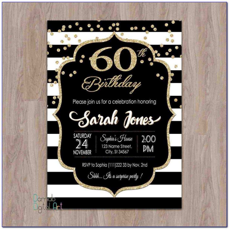 30th Birthday Invitation Templates Word