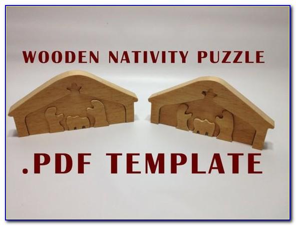 3d Nativity Scene Template