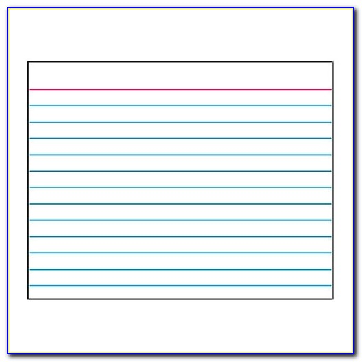 Index Card Template In How To Print On A 4x6 Index Card