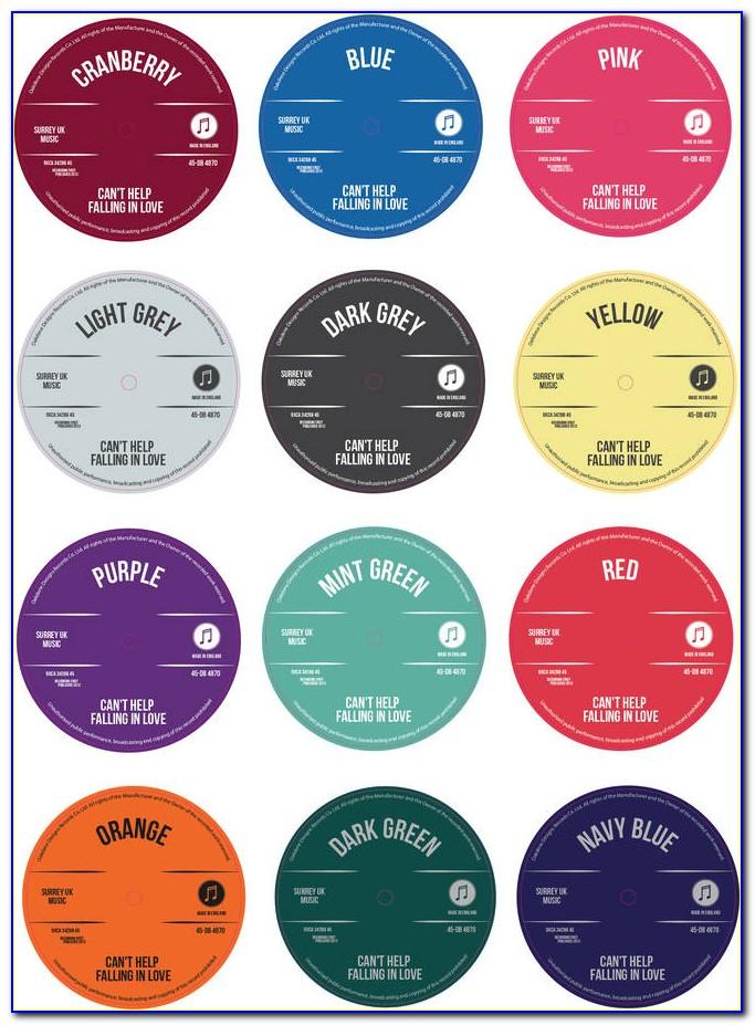 45 Rpm Record Label Template