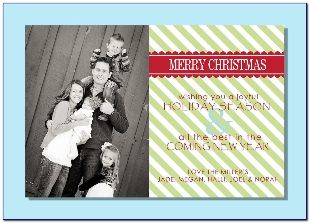 4x6 Christmas Card Template