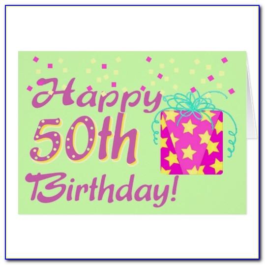 50th Birthday Card Templates Free
