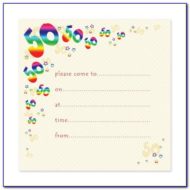 50th Birthday Celebration Invitation Template