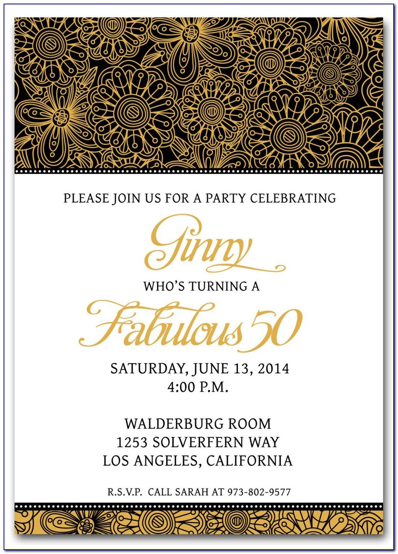 50th Birthday Invitation Card Format