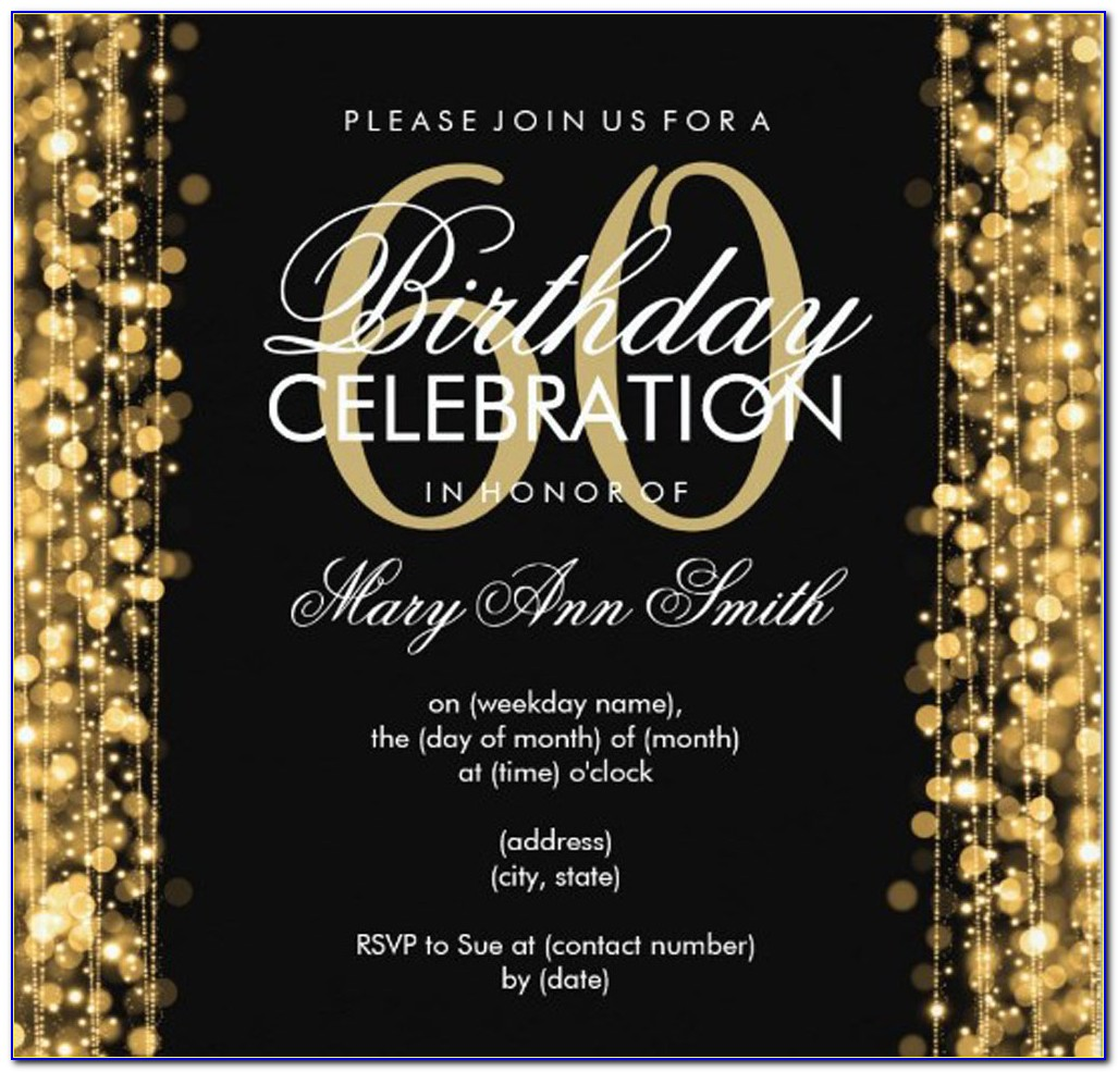 60 Birthday Invitations Templates