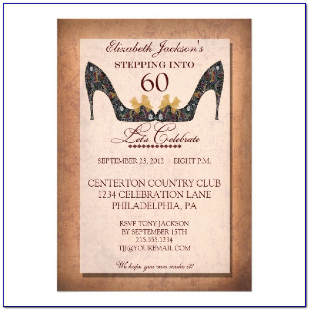 60th Birthday Invitations Templates