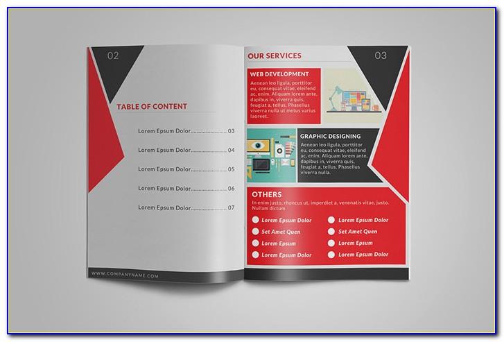 8.5 X 14 4 Panel Brochure Template