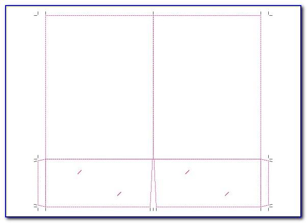 9 X 12 Pocket Folder Template Indesign