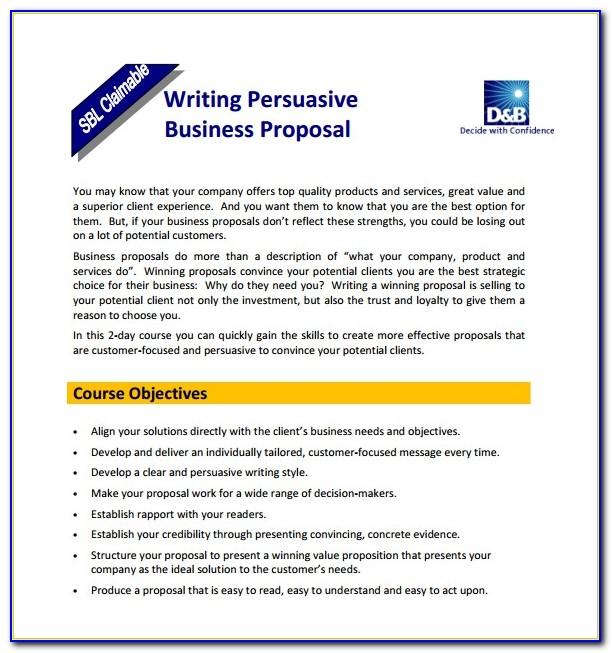 A Business Proposal Sample Pdf