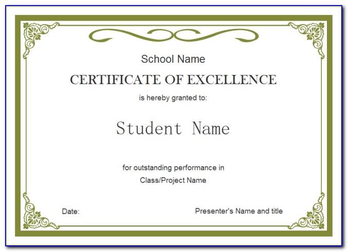 Academy Award Certificate Template Free