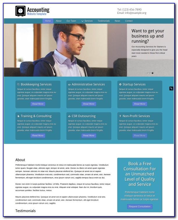 Accounting Web Design Templates