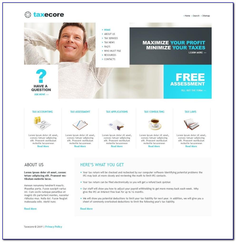 Accounting Web Templates Free
