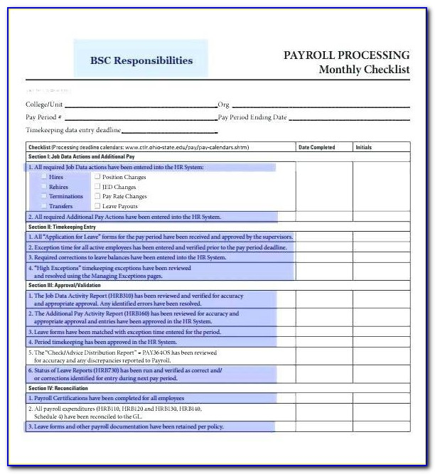Accrued Payroll Reconciliation Template