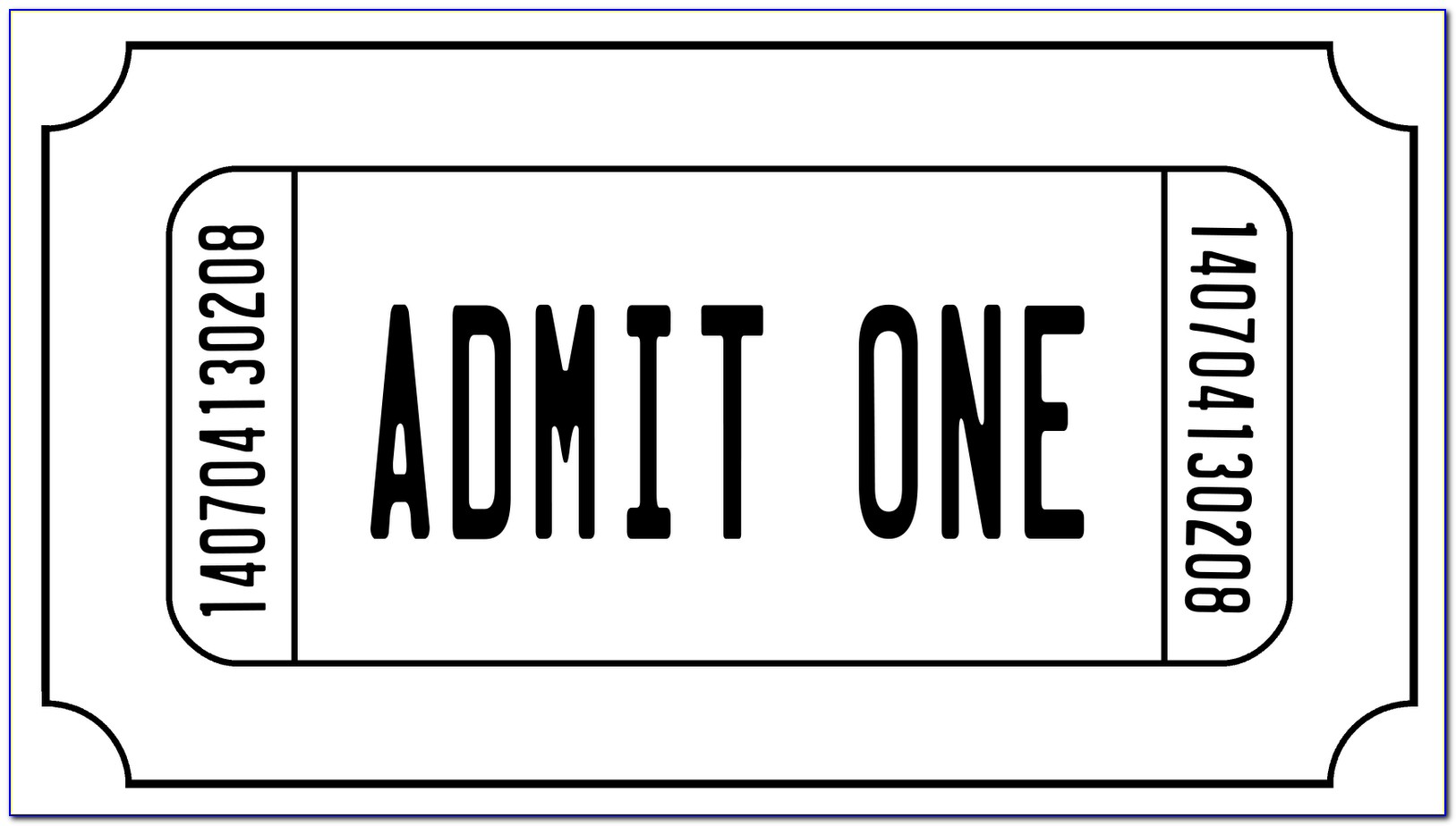 Admit One Carnival Ticket Template