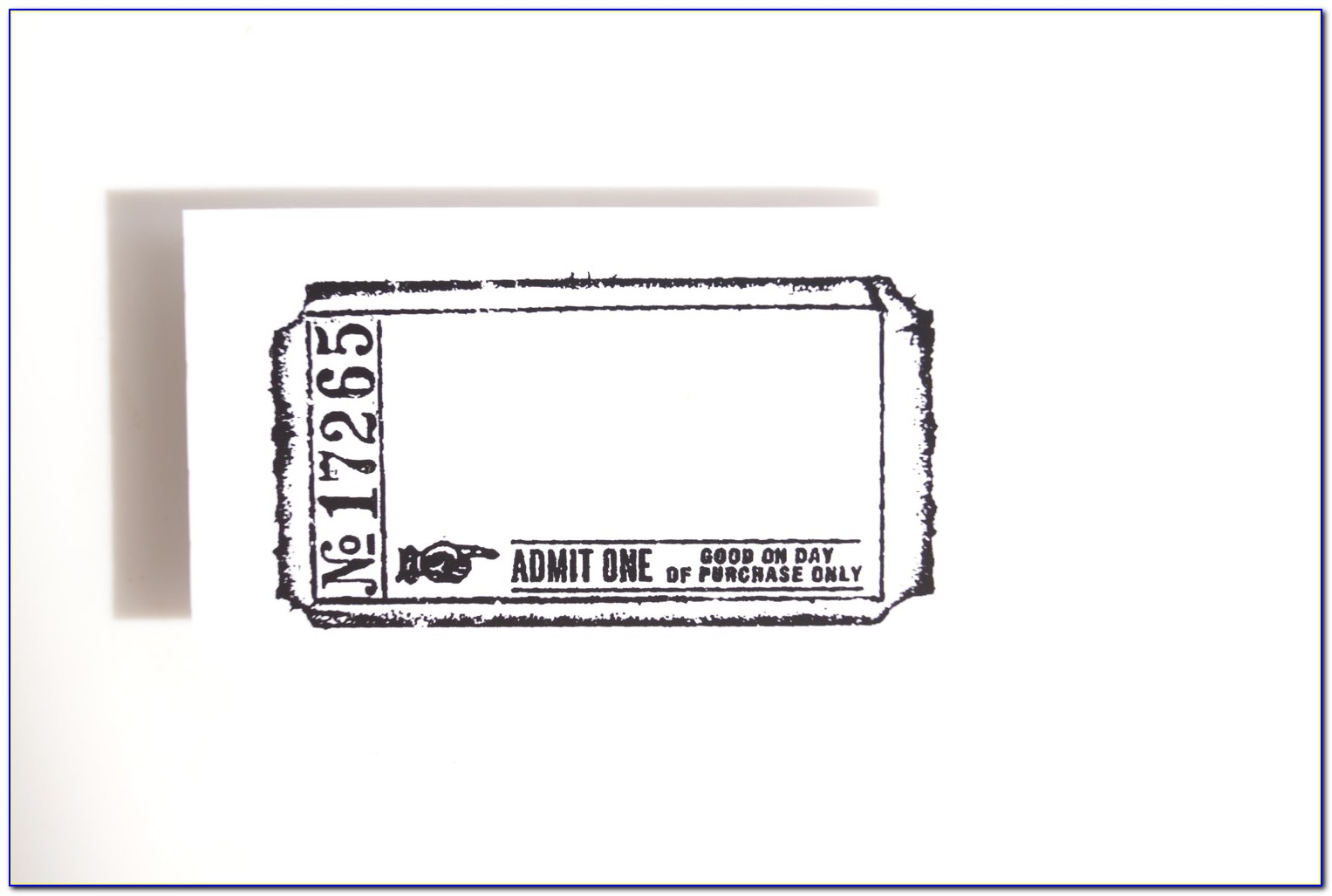 Admit One Ticket Template Illustrator