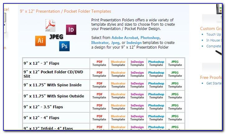 Adobe Indesign Pocket Folder Template
