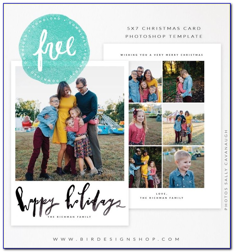 Adobe Photoshop Christmas Card Templates Free