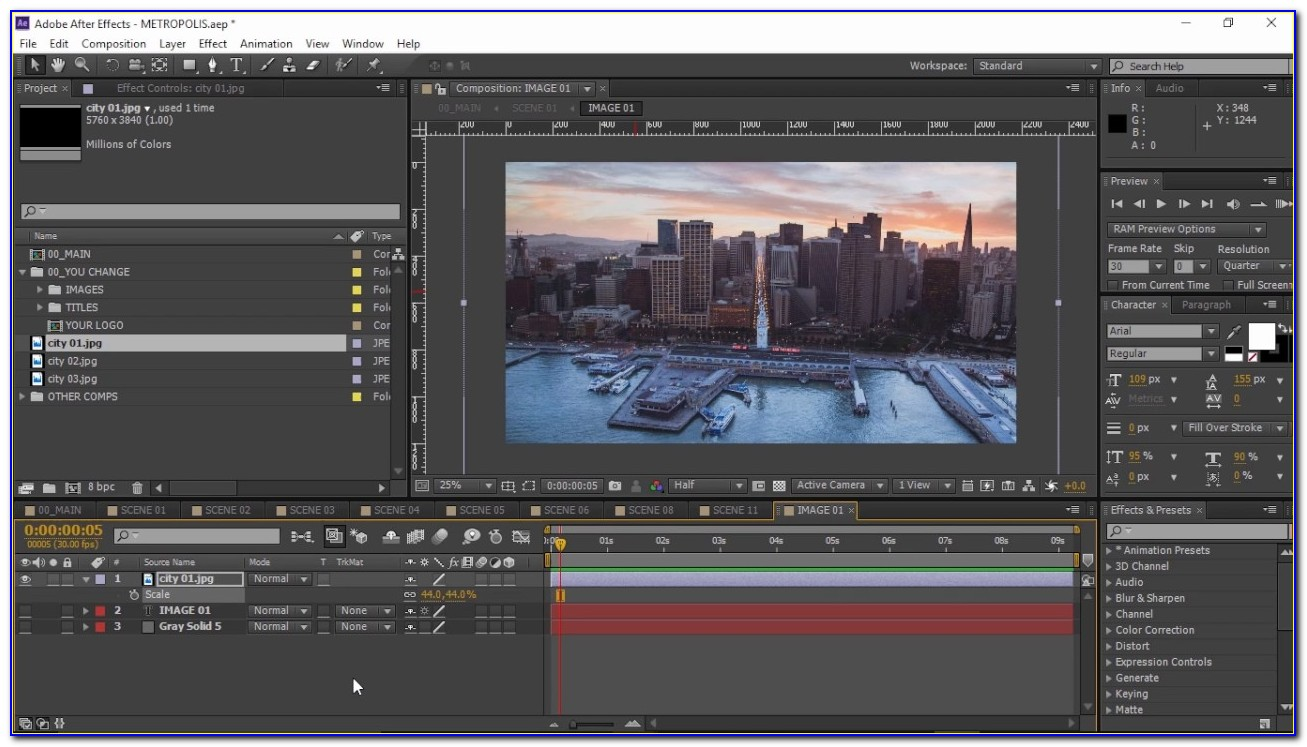 After Effects Template Tutorial