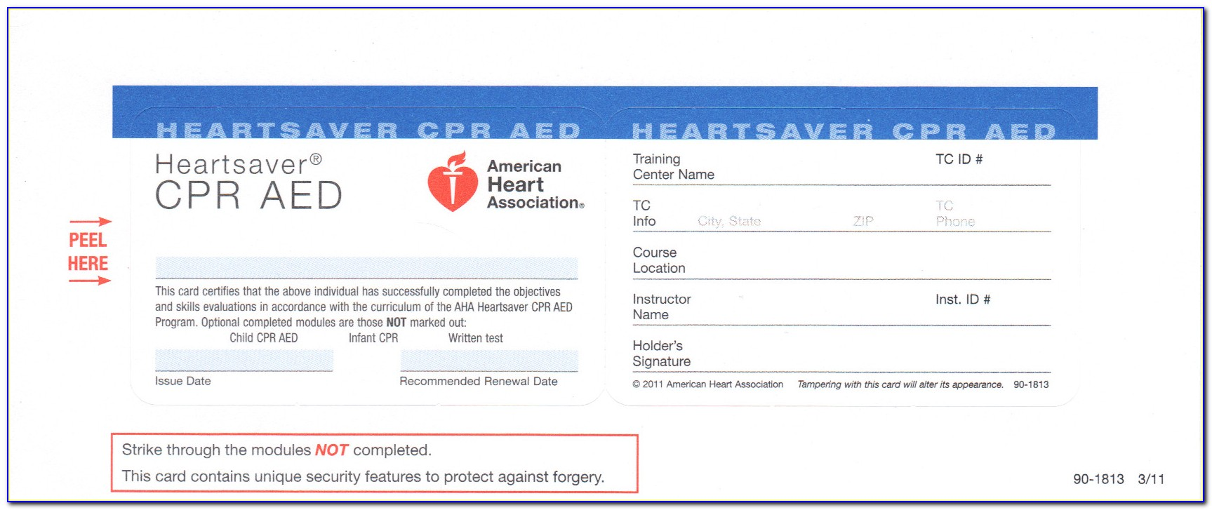 Aha Cpr Card Template Download