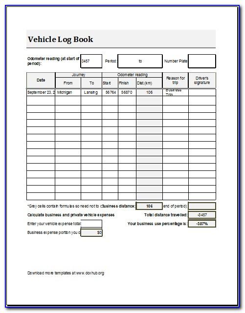 Aircraft Maintenance Log Book Template