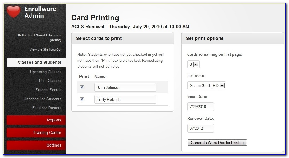 American Heart Association Card Printing Made Easy Inside Aha Cpr Card Template