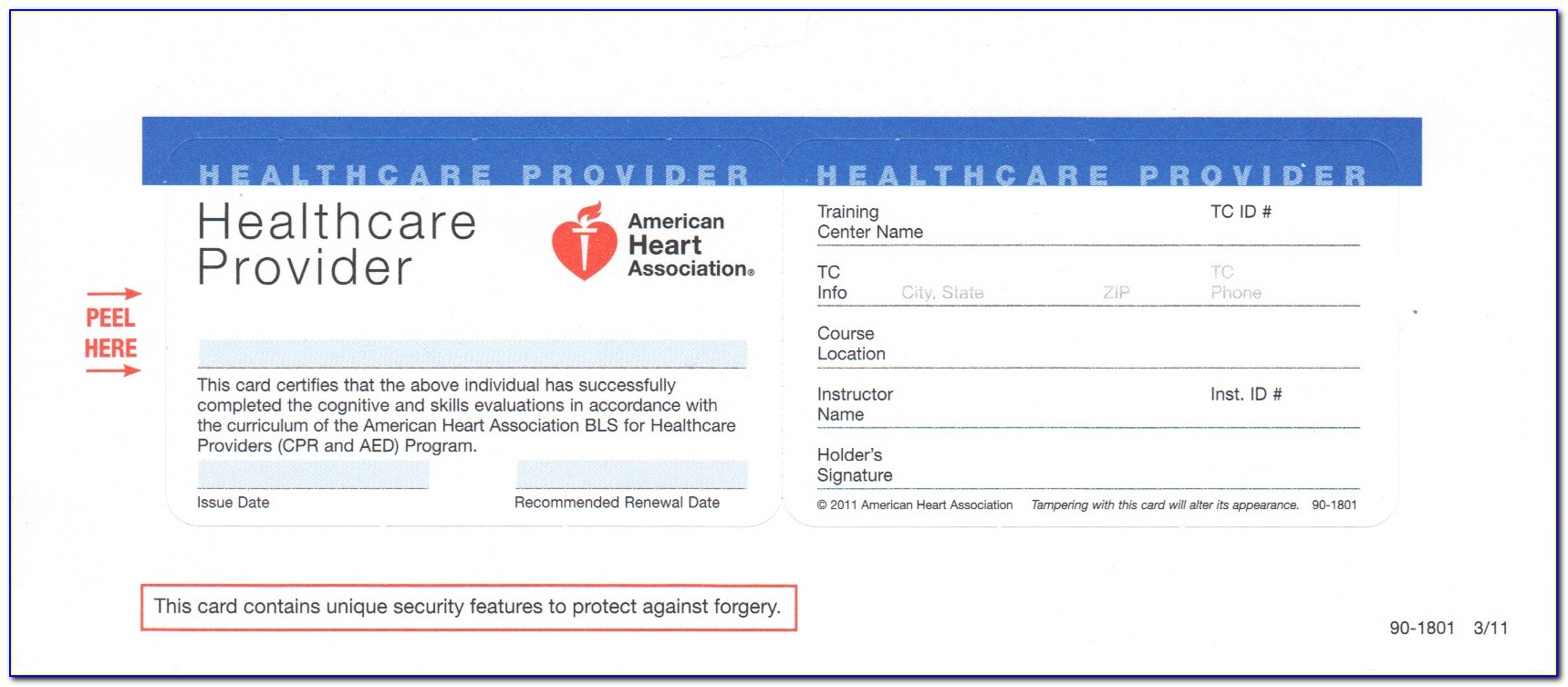 Cpr Safety Training Basic Life Support For Healthcare Providers Regarding Aha Cpr Card Template