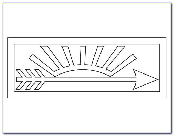Arrow Of Light Plaque Router Template