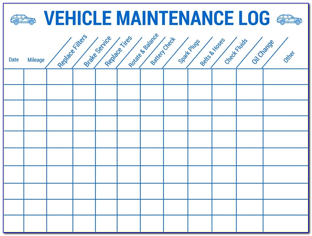 Automotive Maintenance Log Template