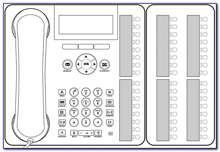 Avaya Phone Label Template