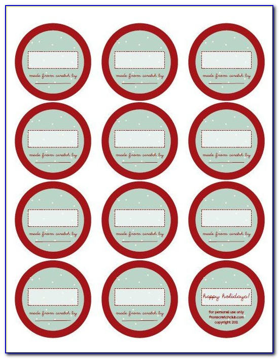 Avery Canning Jar Label Template