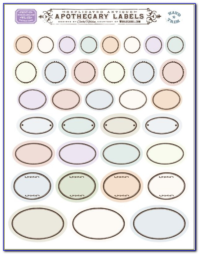 Avery Oval Label Templates