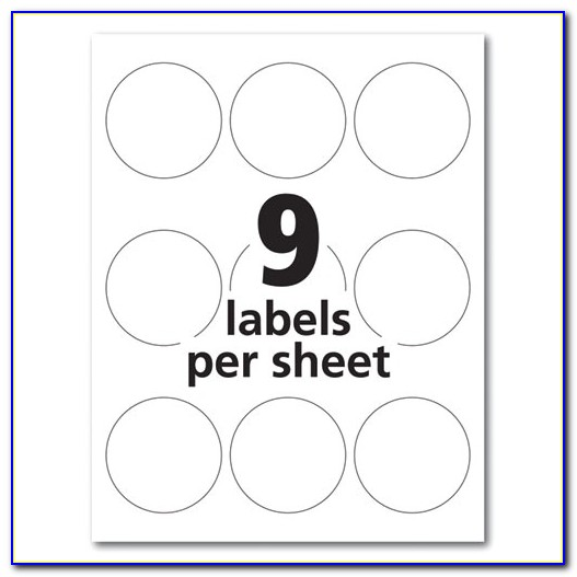 Avery Sticker Templates Circle Avery 22830 Labels