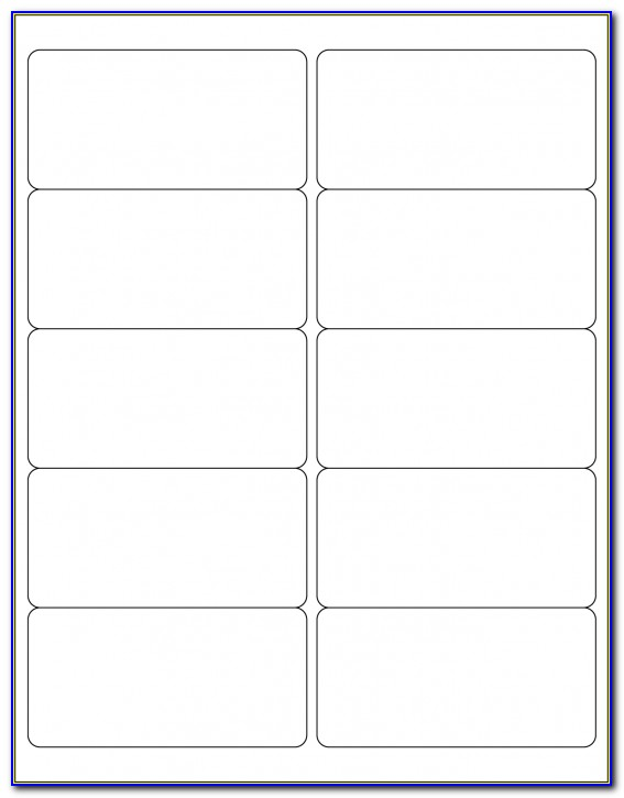 Avery Self Adhesive Labels Template