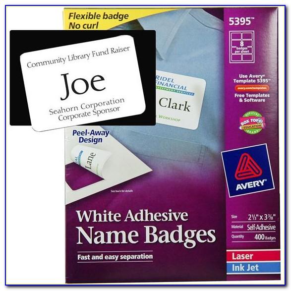 Avery Template Name Badge 74541