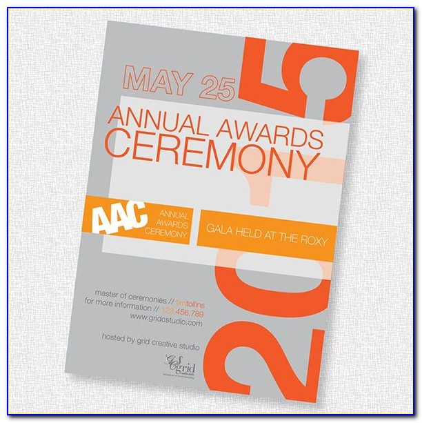 Award Ceremony Invitation Sample