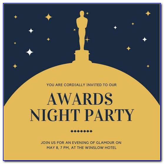 Awards Ceremony Invitation Template