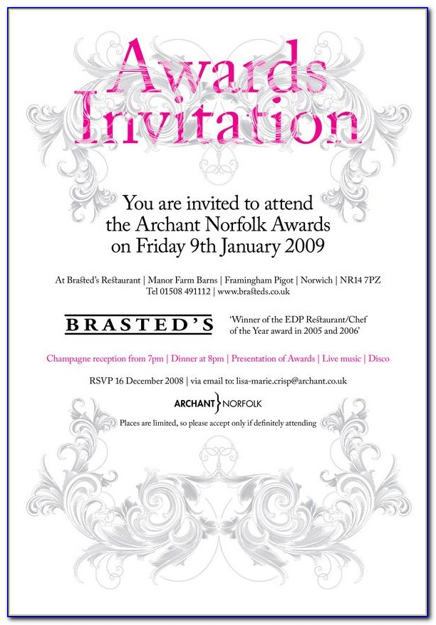 Awards Day Invitation Template