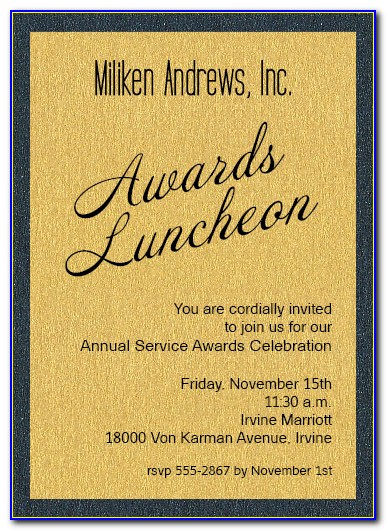 Awards Invitation Templates Free