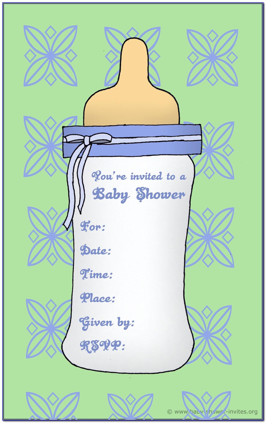 Baby Boy Birthday Invitations Templates Free