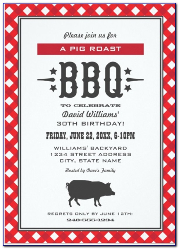 Baby Shower Barbecue Invitation Template