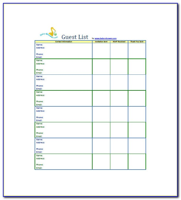 Baby Shower Tree Guest Book Template