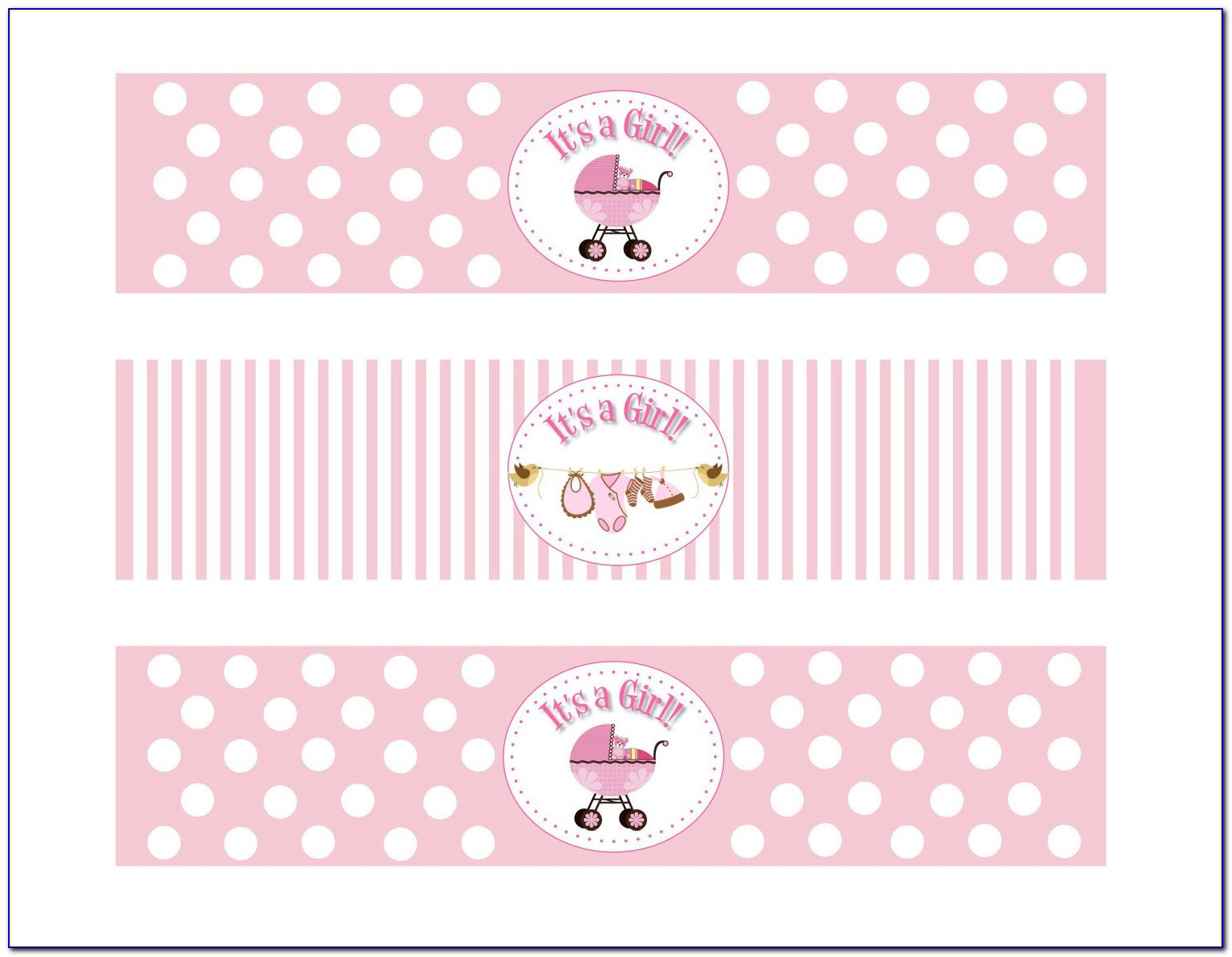 Baby Shower Wine Label Template