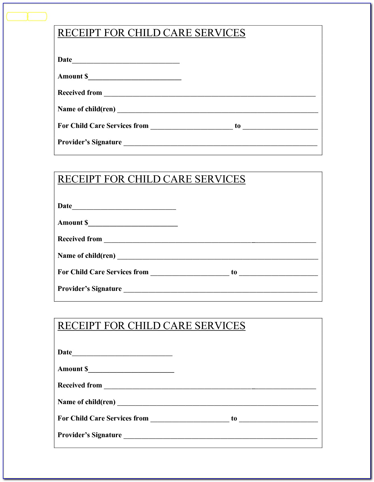 Babysitting Invoice Template Free