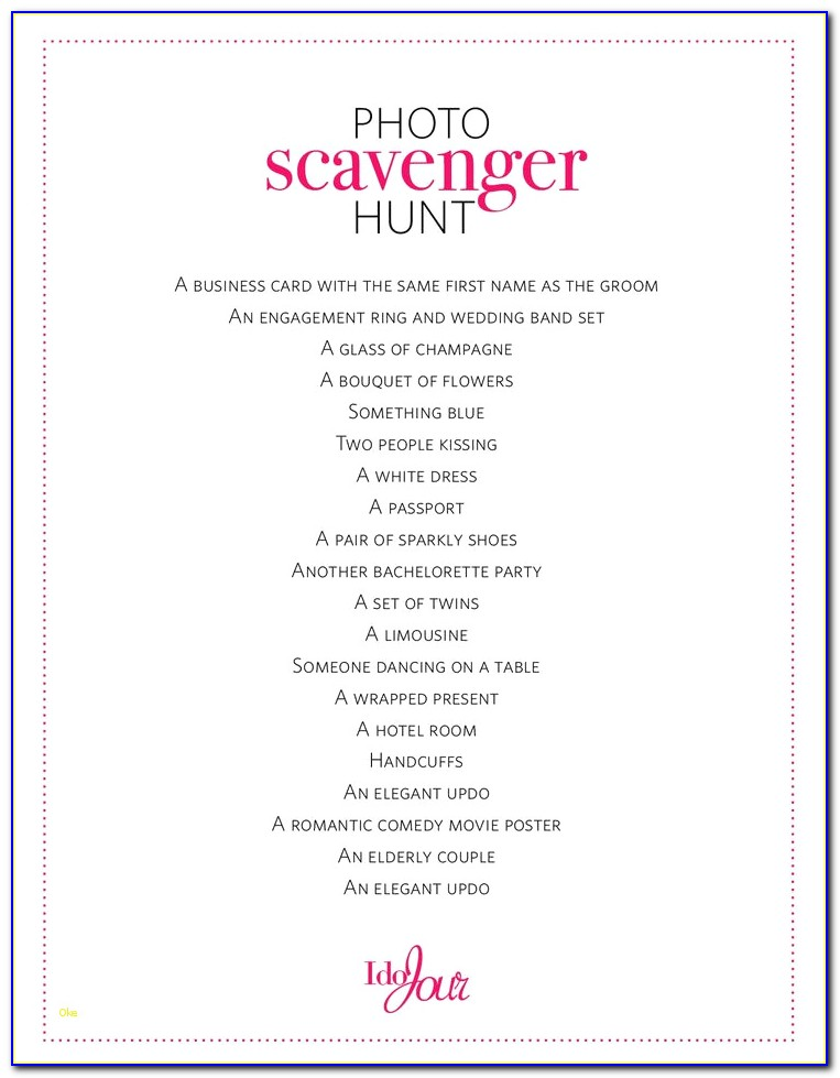 Scavenger Hunt Template Awesome Bachelorette Party Scavenger Hunt Template